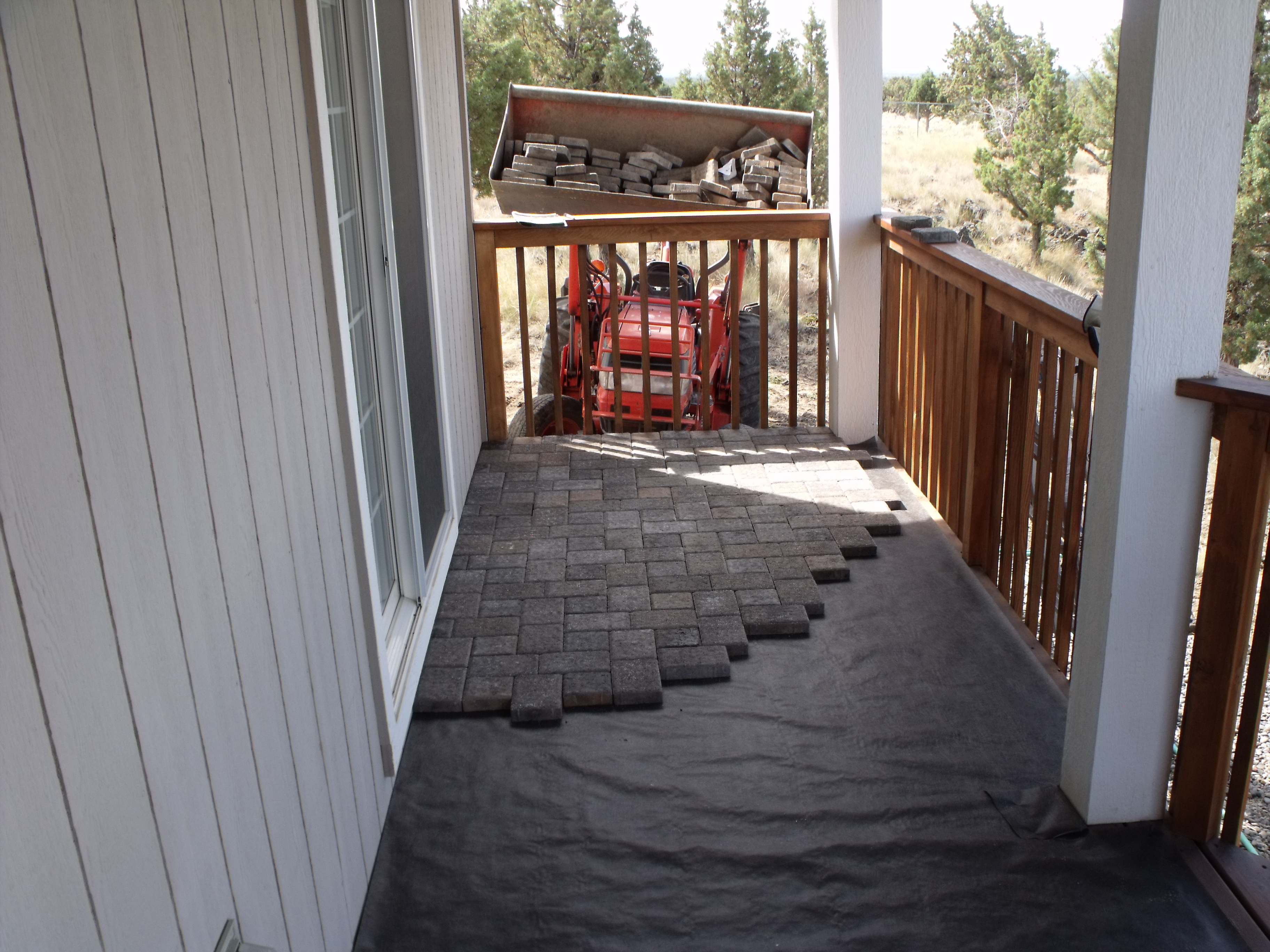 Pavers On An Existing Deck Michael R Taylor Construction